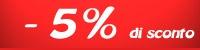 Sconto acquisto 5%
